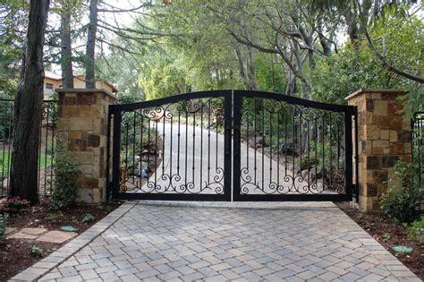 automatic ornamental iron driveway gates mediterranean landscape other by diablo iron inc