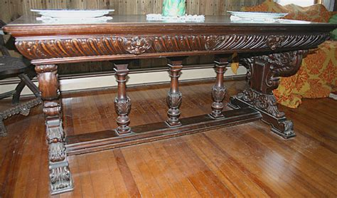 antique table ls for sale renaissance revival walnut library table c 1875 1900 for