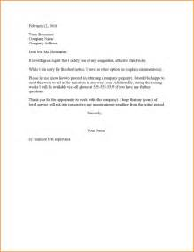 Short Notice Resignation Letter 2 Weeks