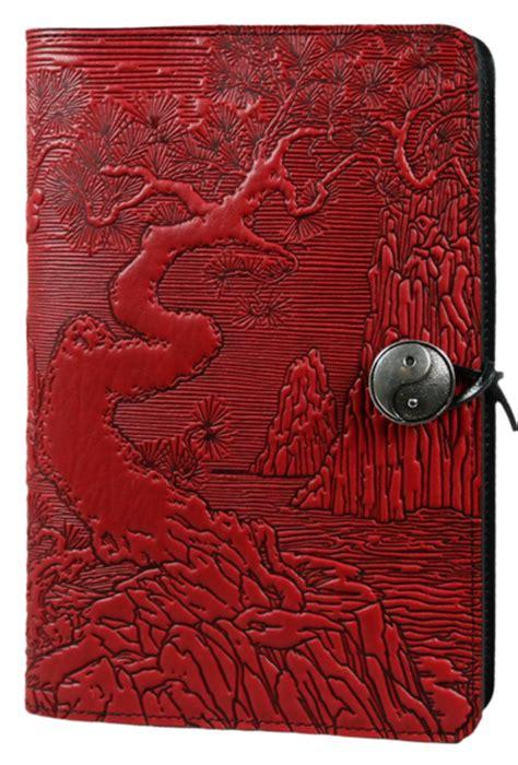 leather journal cover diary river garden oberon design