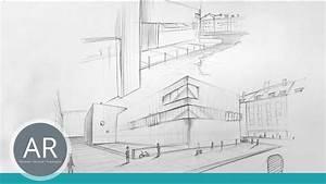 Perspektive Zeichnen Raum : architektur skizzen perspektive zeichnen zwei punkt perspektive architektur mappenkurs youtube ~ Orissabook.com Haus und Dekorationen