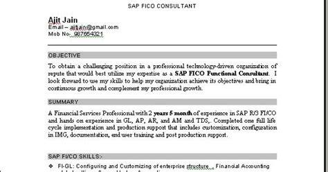 sap fico consultant resume