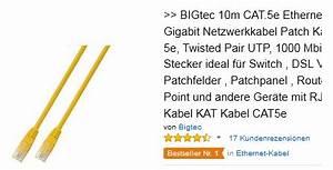 Grün Gelbes Kabel : bigtec 10m gelbes kabel knalliger preis ~ Articles-book.com Haus und Dekorationen