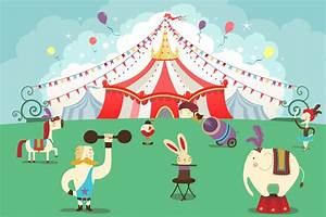 Cartoon Circus Wallpaper Wall Mural   MuralsWallpaper.co.uk