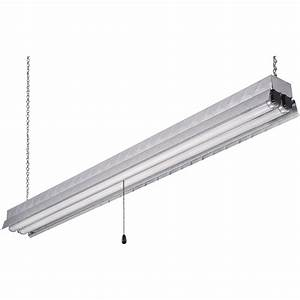 Canarm Hanging Metal Fluorescent Shop Light  U2014 48in L  32