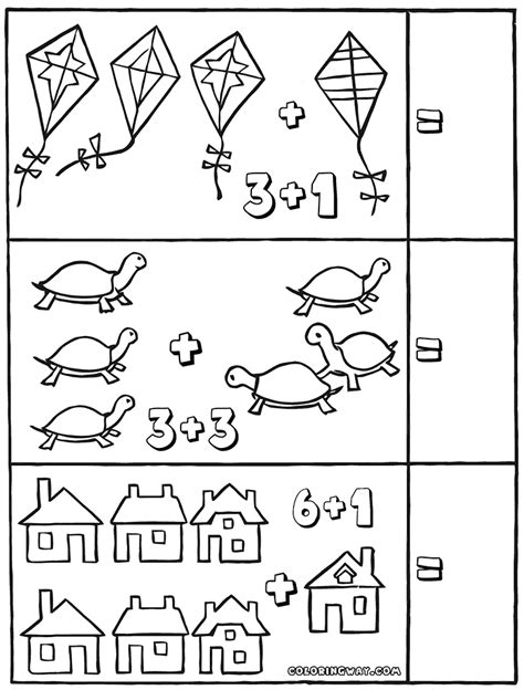 Coloring Math Worksheets by Easy Math Worksheets Coloring Pages To And Print