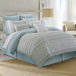 Nautica Blue and Beige Bedding Set