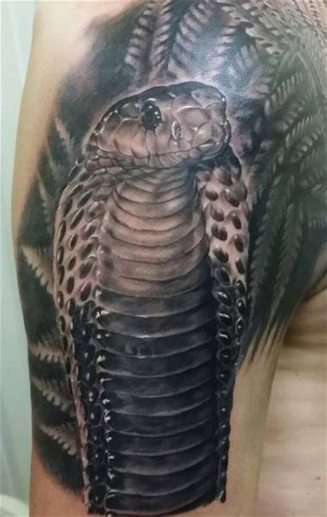 shoulder realistic snake tattoo  inky joe