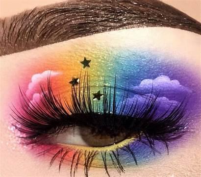 Rainbow Tutorial Eyeshadow Makeup Colorful Taste Pride