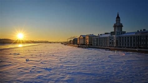 Snow In St. Petersburg On The Neva Wallpapers And Images