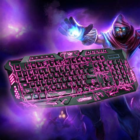 gaming in color 3 colors illuminated led 114 key backlight usb wired