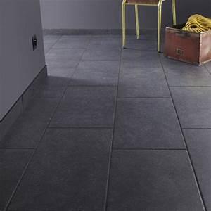 carrelage sol et mur noir effet pierre bruges l30 x l60 With carrelage sols