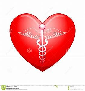 Medical symbol on Heart stock vector. Illustration of ...