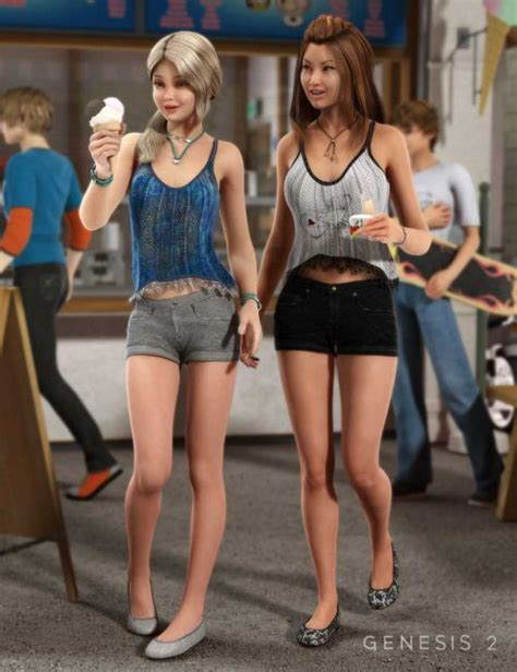 Weekend Fun Outfit Textures 3d Models For Poser And Daz Studio