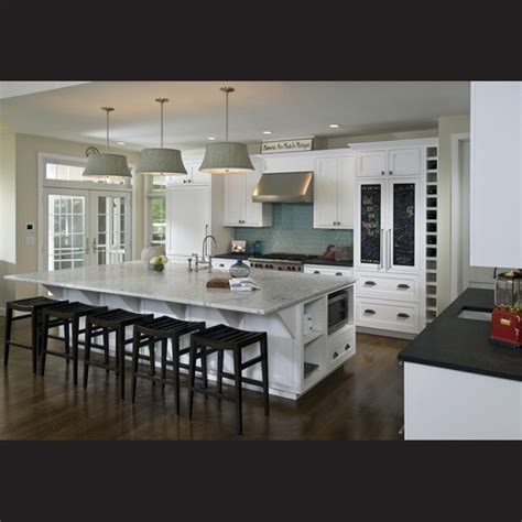 An Extralarge Island Is The Centerpiece Of The Kitchen