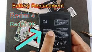 Xiaomi Redmi 4x And Redmi 4 Battery Replacemet