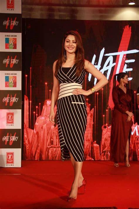 indian model urvashi rautela   black dress