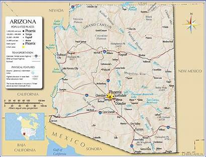 Arizona Map Printable Maps Phoenix Area Resolution