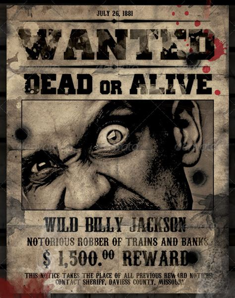 Wanted Dead Or Alive Poster Template Free by 16 Wanted Poster Templates Free Sle Exle Format
