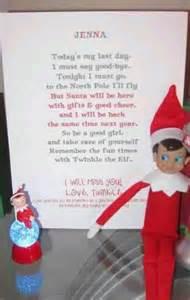 Idea the Elf On Shelf Goodbye Letter