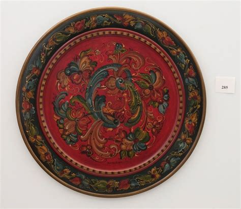 for decorative purposes only images rosemaling 30 quot wooden plate for decorative purpose only ローズマリング photos