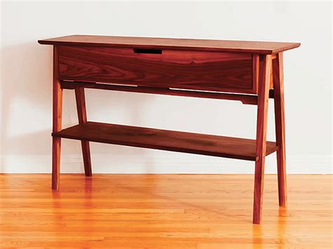 project contemporary hall table woodworking blog