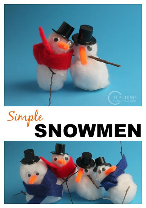 snowman craft with pom poms 819 | Cute Snowman Craft for Preschoolers . 1