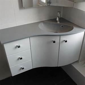 Meuble Vasque Angle : cuisine merveilleux meuble de salle de bain d angle ~ Teatrodelosmanantiales.com Idées de Décoration