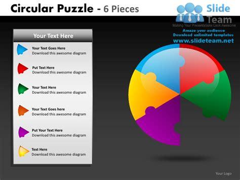 circular puzzle  pieces powerpoint
