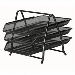 mesh 3 tier letter tray black staplesr With tiered letter tray
