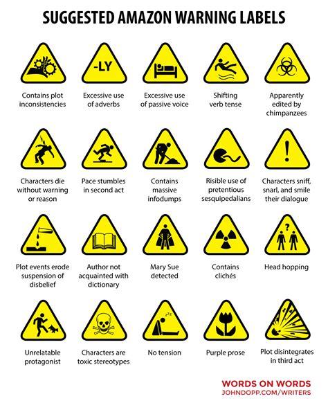amazons  warning labels snark