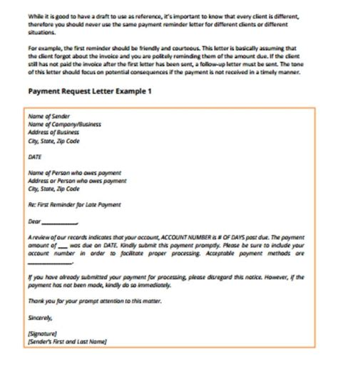 payment request letter pikeproductosebco