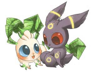 Umbreon and Leafeon Love