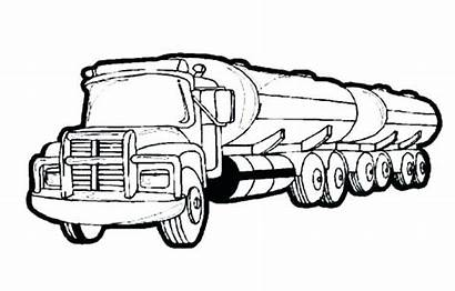 Coloring Pages Trailer Truck Harvester Combine Trucks