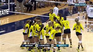 Michigan Volleyball Upsets #4 Penn State - YouTube
