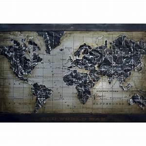 Tableau Du Monde : tableau map monde cocktail scandinave ~ Teatrodelosmanantiales.com Idées de Décoration