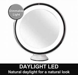 Amazoncom Fancii 10X Magnifying Lighted Makeup Mirror