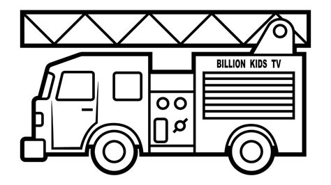 Fortune Trucks Coloring Pages Fire Truck Vehicles Video