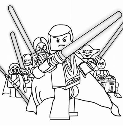 Lego Wars Coloring Star Pages