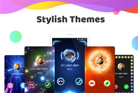 call color color phone flash call screen theme for android