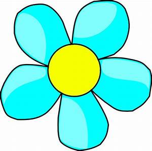 Sky Blue Flower Clip Art at Clker.com - vector clip art ...