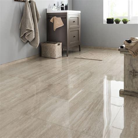 carrelage sol et mur travertin effet marbre rimini l 60 x l 60 cm leroy merlin