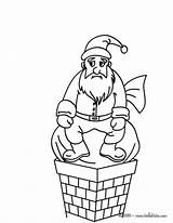 Chimney Coloring Santa Claus Pages Colouring Blocked Christmas Designlooter Act Hellokids 3kb 470px sketch template