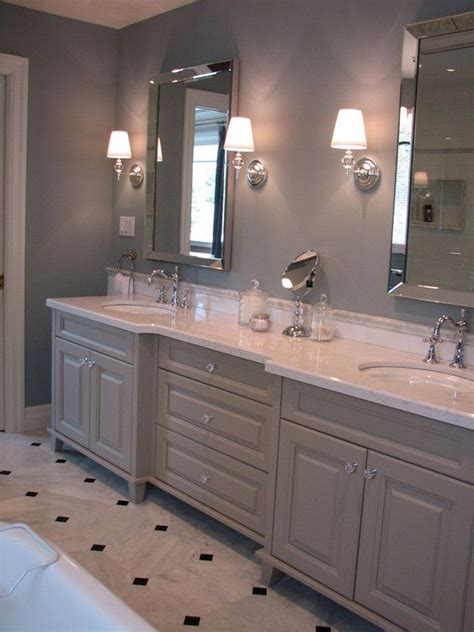 crystal knobs on the gray cabinets bathroom pinterest