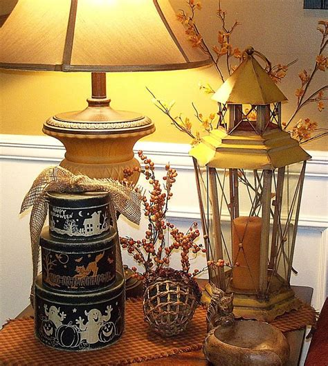 how to decorate end tables end table decorating for fall fall ideas pinterest