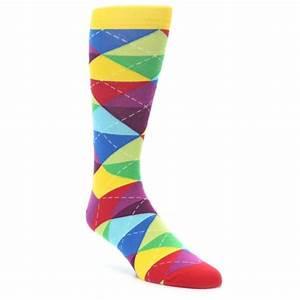 Multi Color Argyle Men's Dress Socks Ballonet