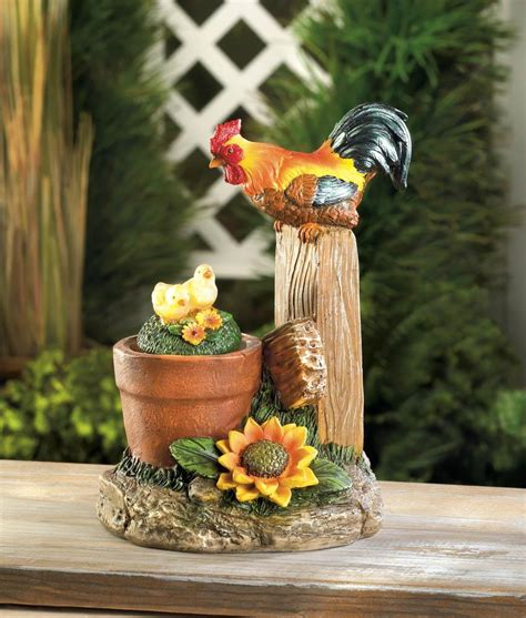 solar decorations solar rotating rooster garden decor wholesale at koehler