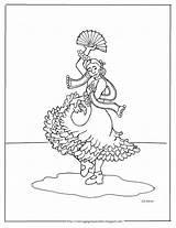 Spanish Flamenco Dancer Dancers Coloring Pages Printable Coloringpagesbymradron Printables Mr Children Crafts sketch template