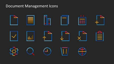 icon collection   document management system