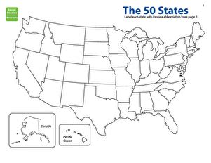 map the states state abbreviations worksheet education com